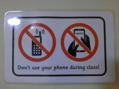 No Phones or Smartphones in the Class